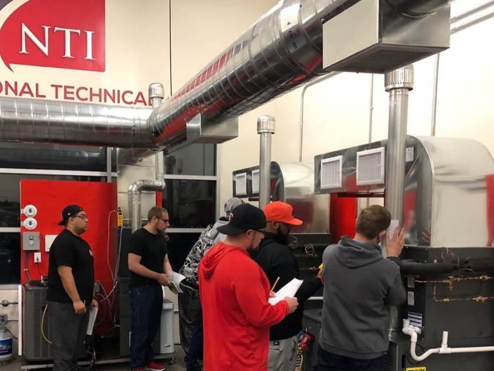 Classroom of NTI career training programs in Phoenix Nevada